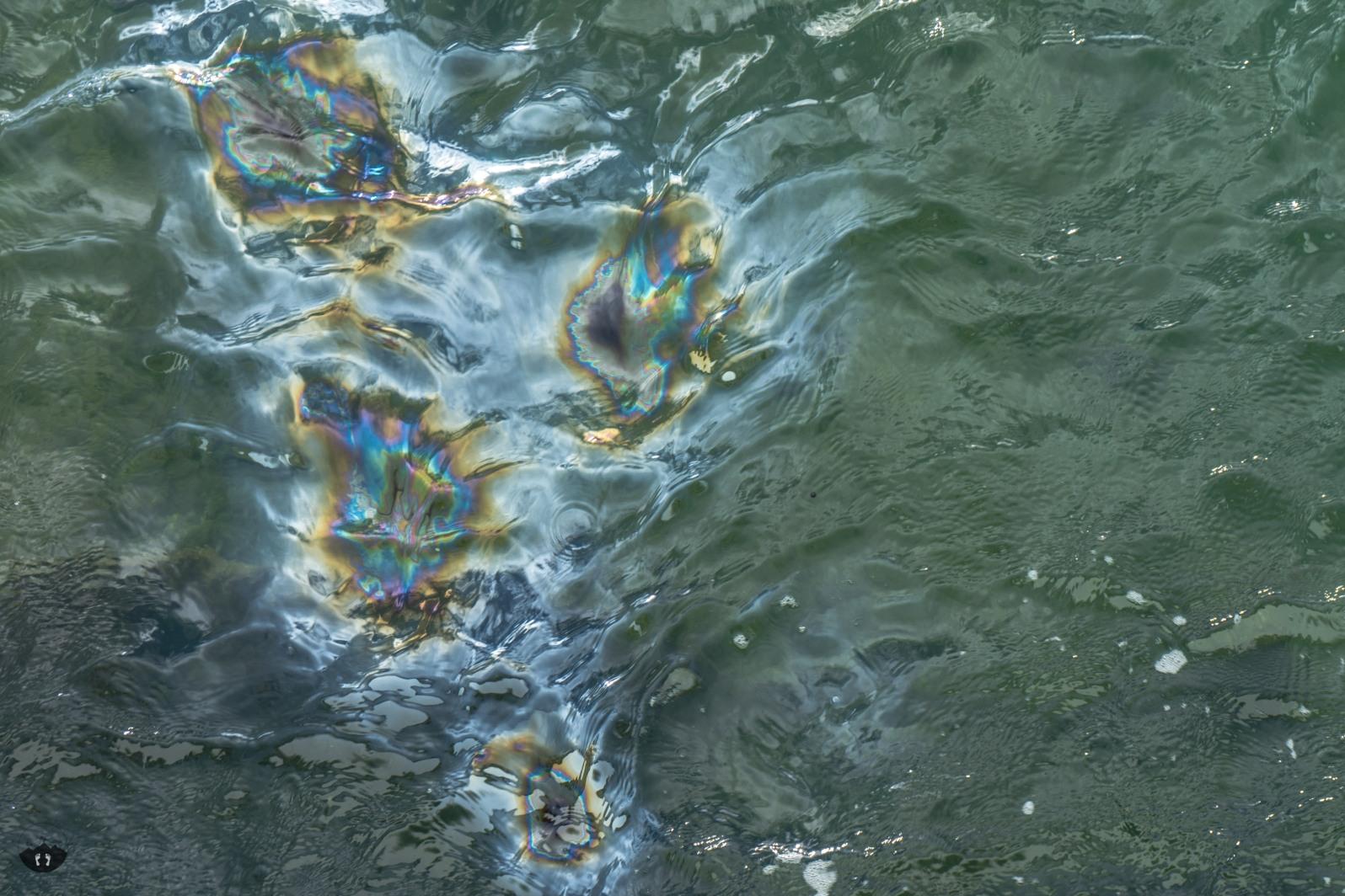 Oil Droplets of the USS Arizona