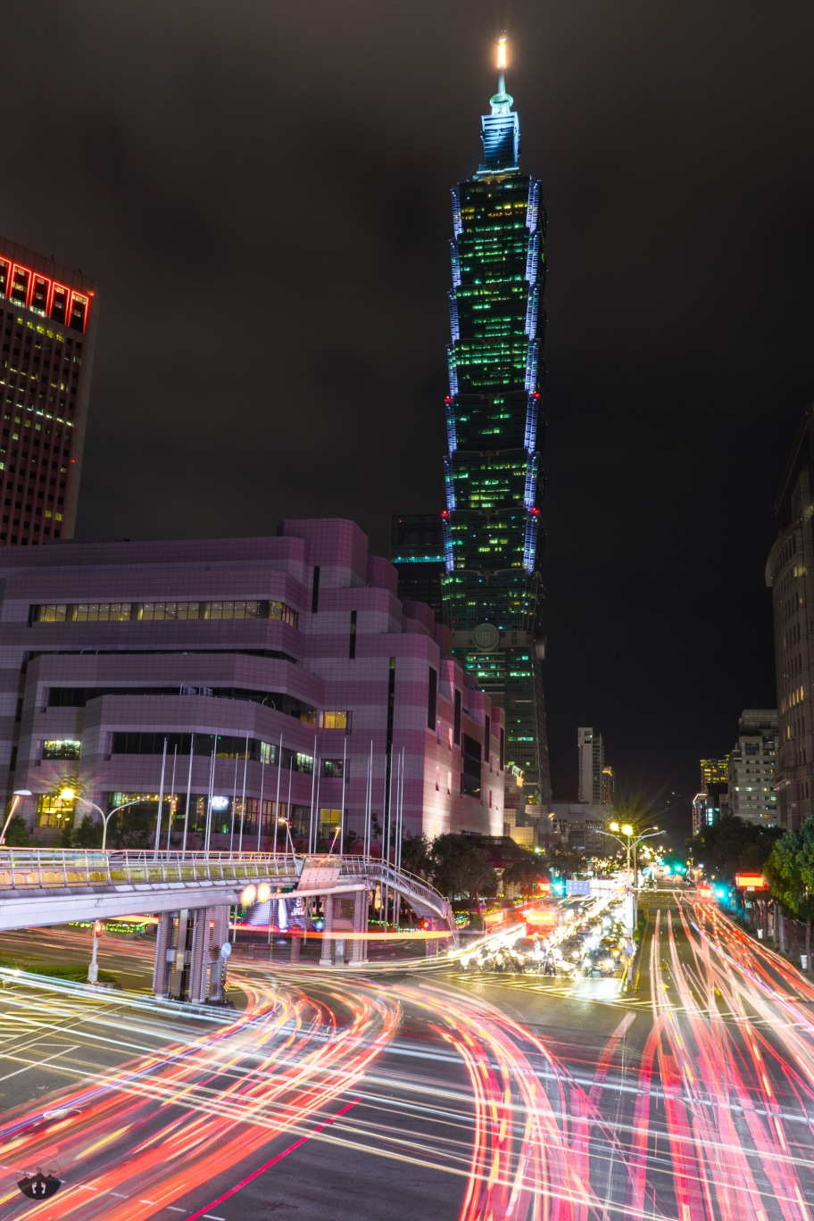 Taipei 101 by night