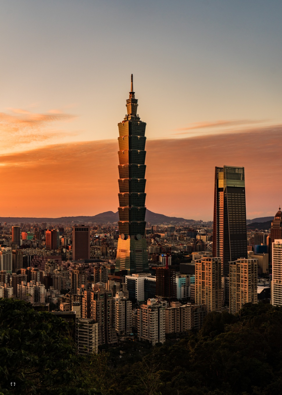 View over Taipei from Elephant Mountain