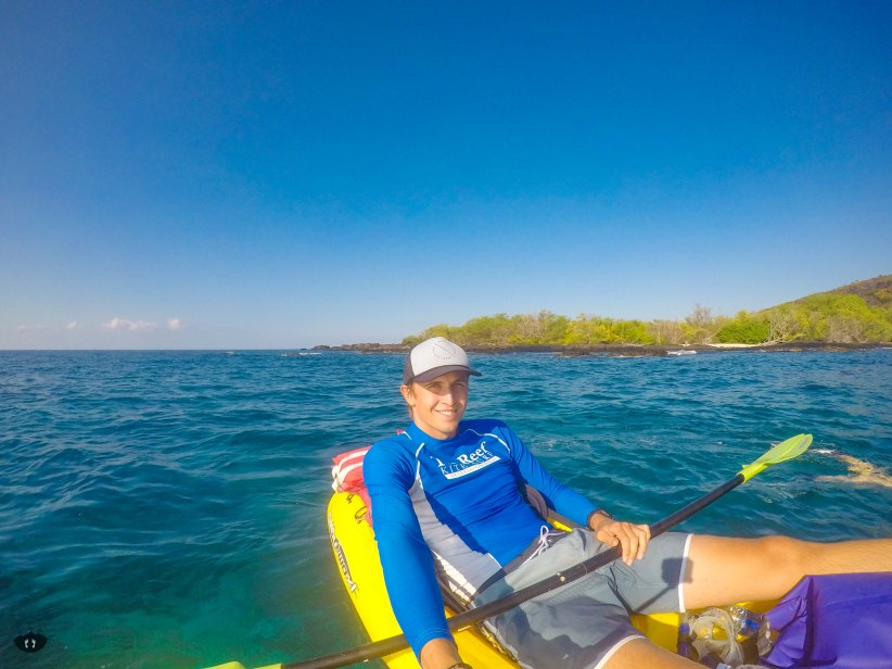 Kayaking at Captain Cook