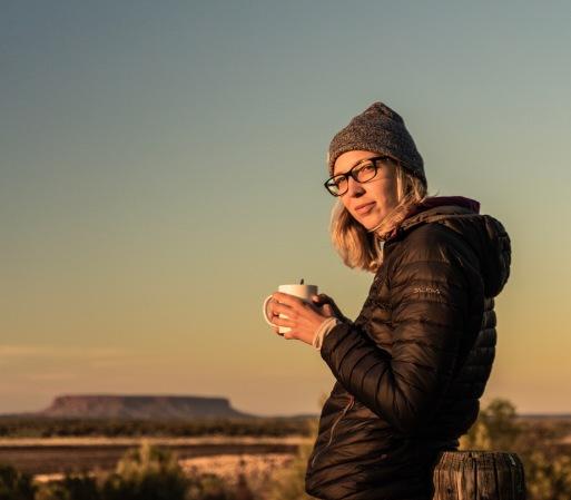 Morning Coffee at Uluru